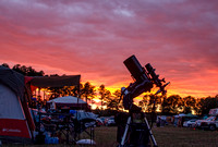 My imaging setup  and campsite at the Staunton River Star Party, 2014