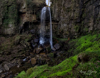 Melincourt Falls in Brecon Beacons, Wales